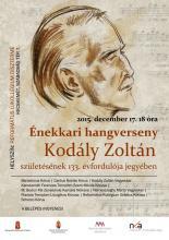 Kórushangverseny Kodály Zoltán születésének 133. évfordulója jegyében